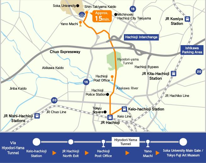 Access TOKYO FUJI ART MUSEUM - Hachiōji map